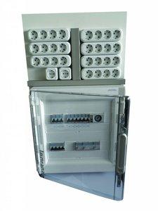 Schakelkast profi 24x600watt 4x continu 1x kachel + vertrager